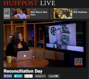 Watch the 30 minute HuffPo Live panel regarding Reconciliation by clicking on the link to the left.  (Featuring: Alvin, going through a divorce, Amy Alkon, the Advice Goddess, and me-- all sharing our experiences and wisdom.