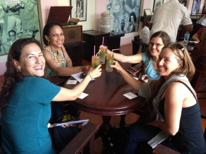 Toasting new friendships with one of many mojitos!
