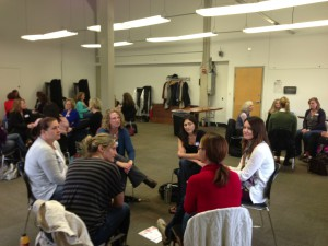 This is a picture from a recent Friendship Accelerator group-- I love watching groups of strangers create their bonds even if they don't feel them instantly with every single person in their group!