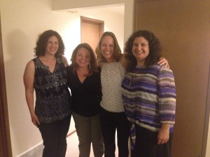 I was honored to meet these three women last month in Seattle when I was visiting.  Starting on the far left: Julie opened her home to our gathering, Kathleen is the author of this story; and on my right is Cindy, the woman who kept hosting events in the Seattle area helping give women activities to do together!  Thanks to all three of you for the joy you're bringing to that area!