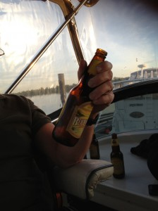 While we couldn't come across any group photo-- this is supposedly Phil's hand holding one of the lucky beers.  Ha!
