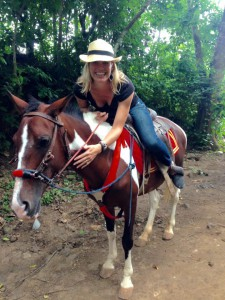 Riding Estelle through the most gorgeous rain forest ever was a magical experience!