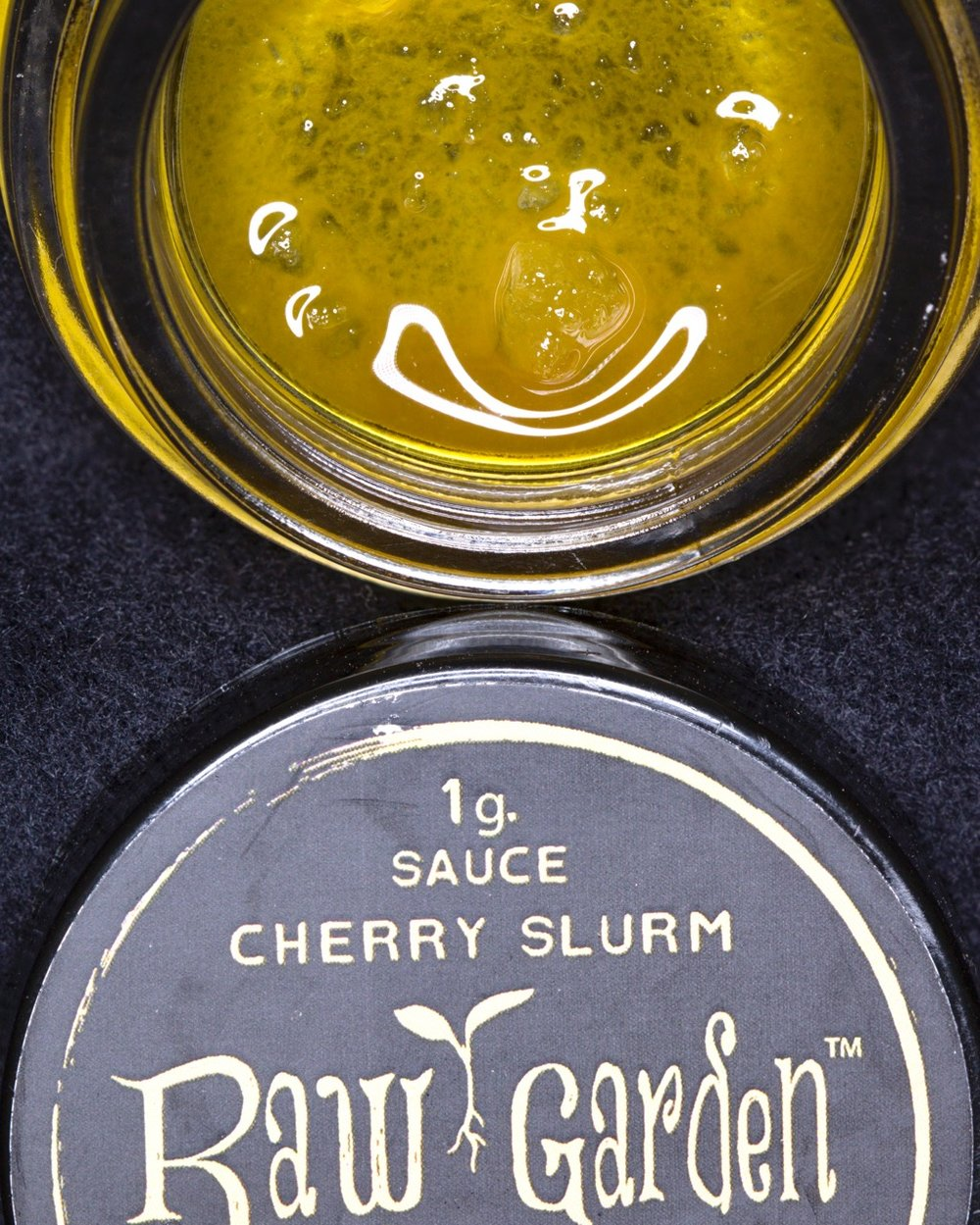 Cherry Slurm live-resin sauce by Raw Garden.