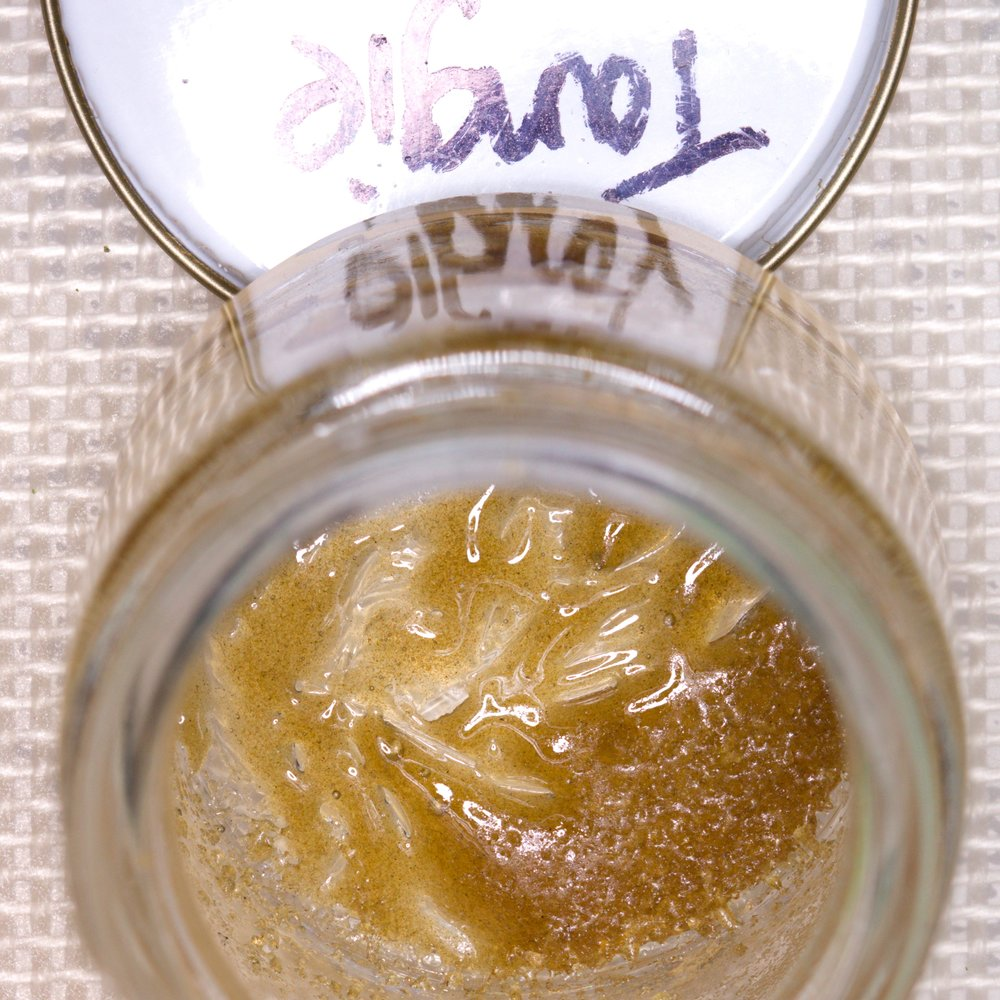 90u Tangie Ice Wax by Matt Rize. Extracted from organic fresh frozen cannabis.