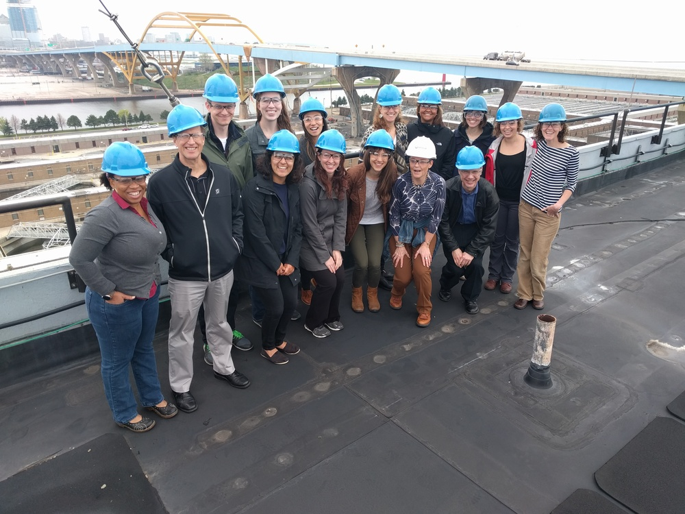 2016 tour the Jones Island Water Reclamation Facility included a panoramic view of the Milwaukee skyline.