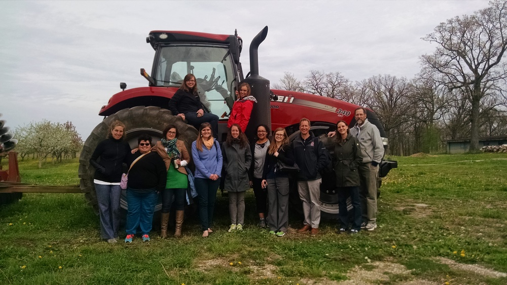 2015 tour of The Hunger Task Force Farm learning about food systems.