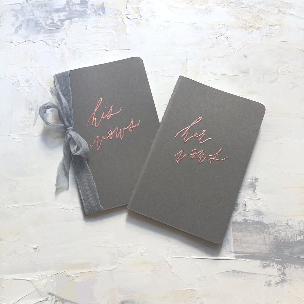 Shop personalized vow books