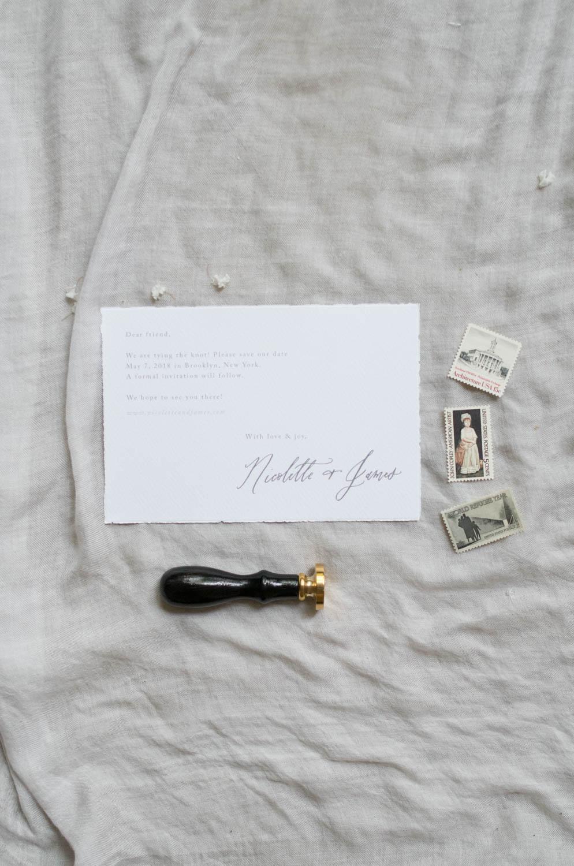 deckle edge paper invitation