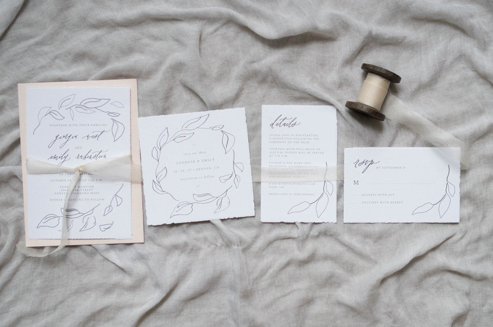 botanical invitation suite