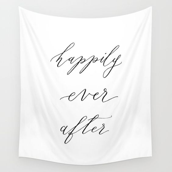 happily ever after calligraphy banner