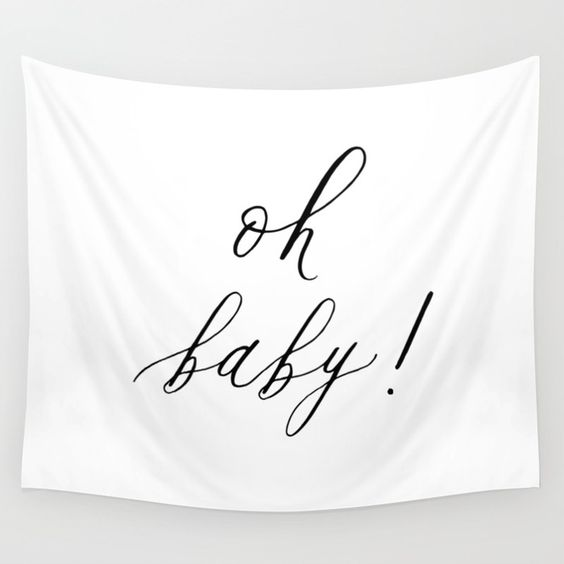 oh baby! baby shower banner