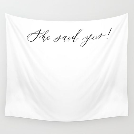 she said yes banner backdrop proposal