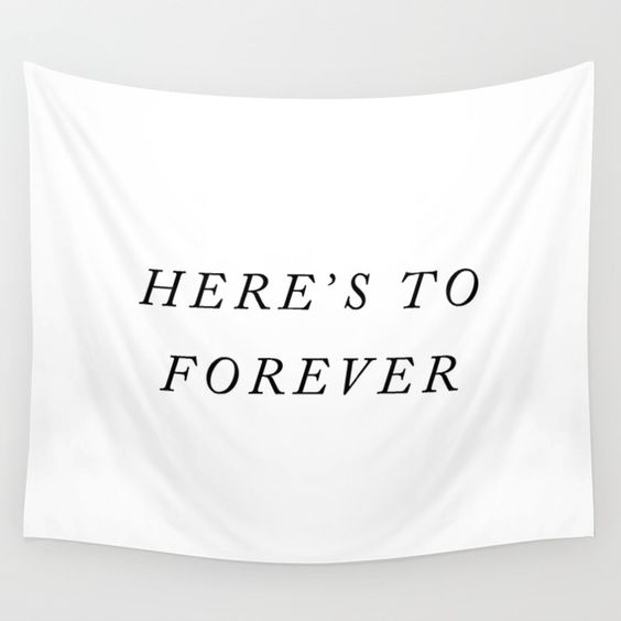 here's to forever calligraphy banner