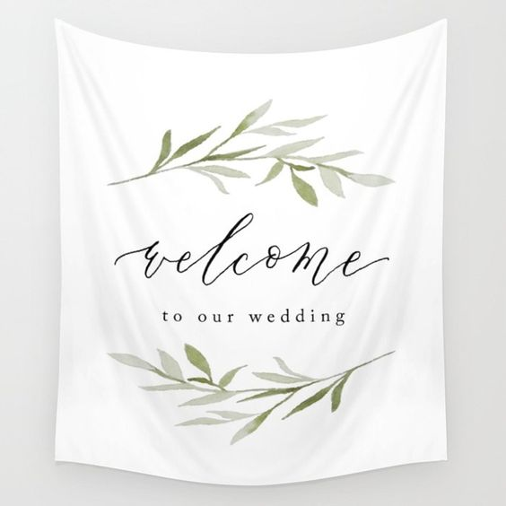 welcome calligraphy banner