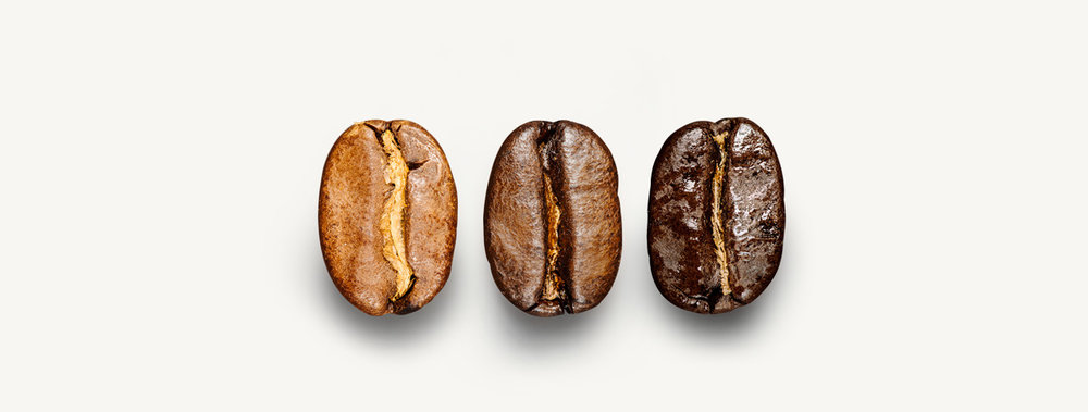 Coffee roast levels from light to dark. Image credit: Roasting Depot