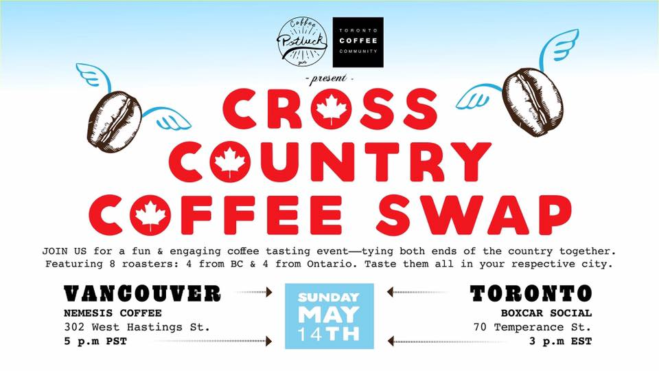 Coffee Potluck Cross Country Coffee Swap
