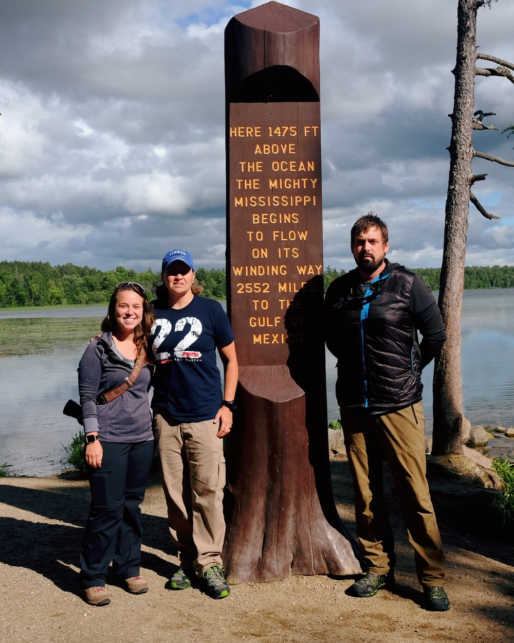 Me, Traci and Mike at the Lake Itasca, the headwaters of the Mississippi River!
