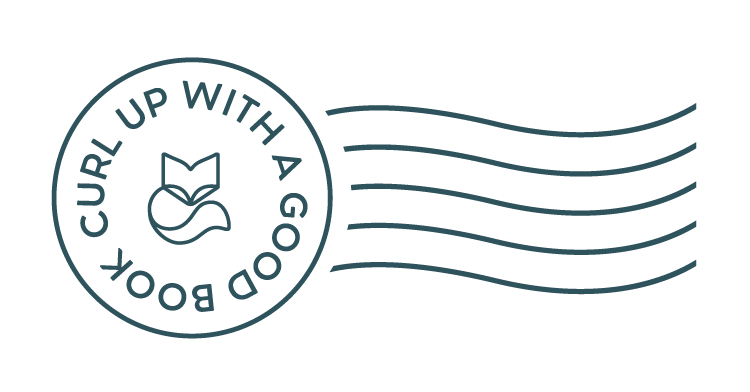 A logo of a fox with the saying Curl Up With A Good Book around it.
