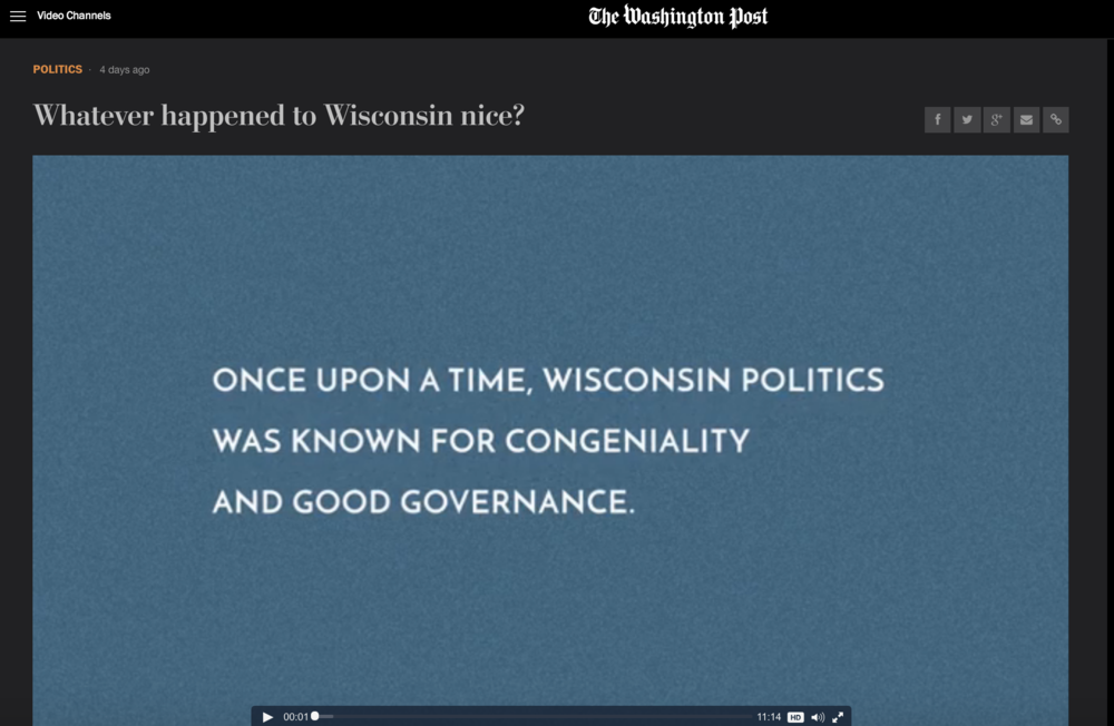 Whatever happened to Wisconsin nice?