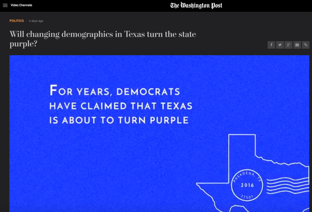 Will changing demographics in Texas turn the state purple?