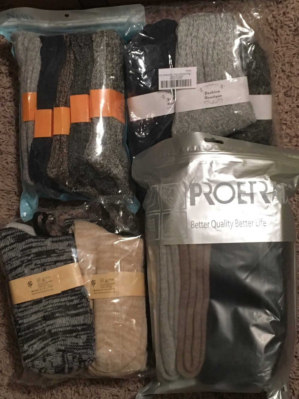 Some people living on the street wear their socks for a month at a time. We had some generous donors help supply us with nice pairs of wool socks this month. Thank you!