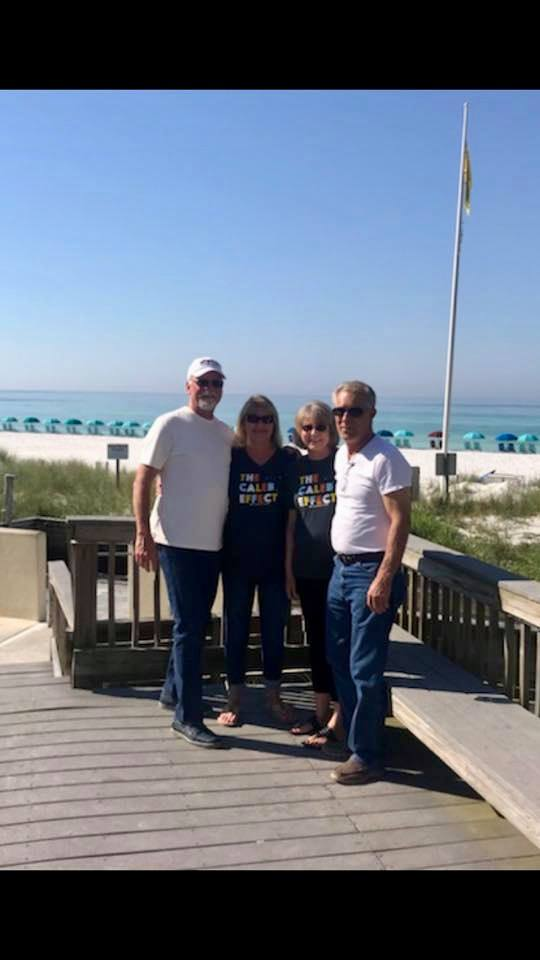 More Florida love! (All of these amazing people have Caleb's shirts but it's HOT in Florida!) — with Alan Atkins ,  Debbie Freeman Stephens  and Kathern Freeman .