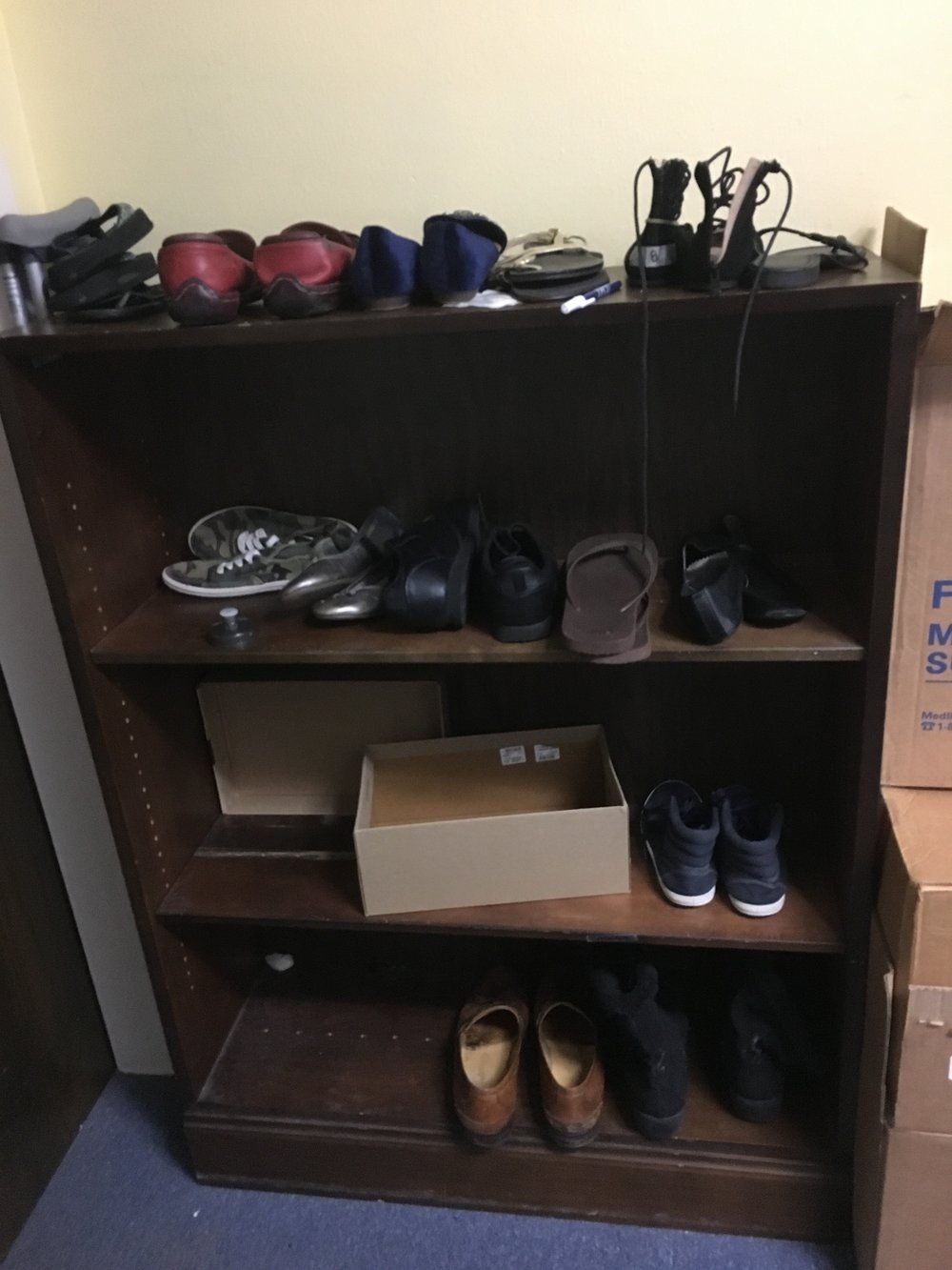 These are the only shoes they have left.