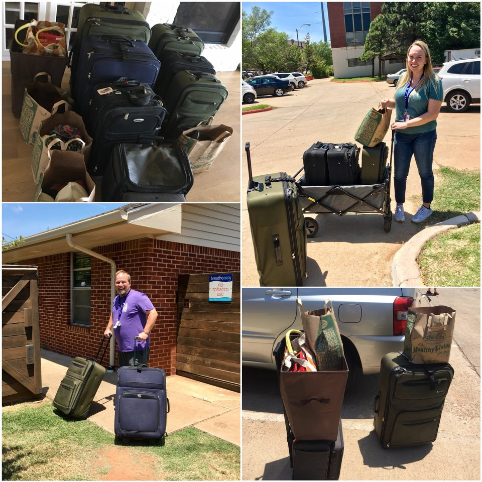 We had so many donations we had to stop by earlier in the week so it would all fit in our cars! THANK YOU!!