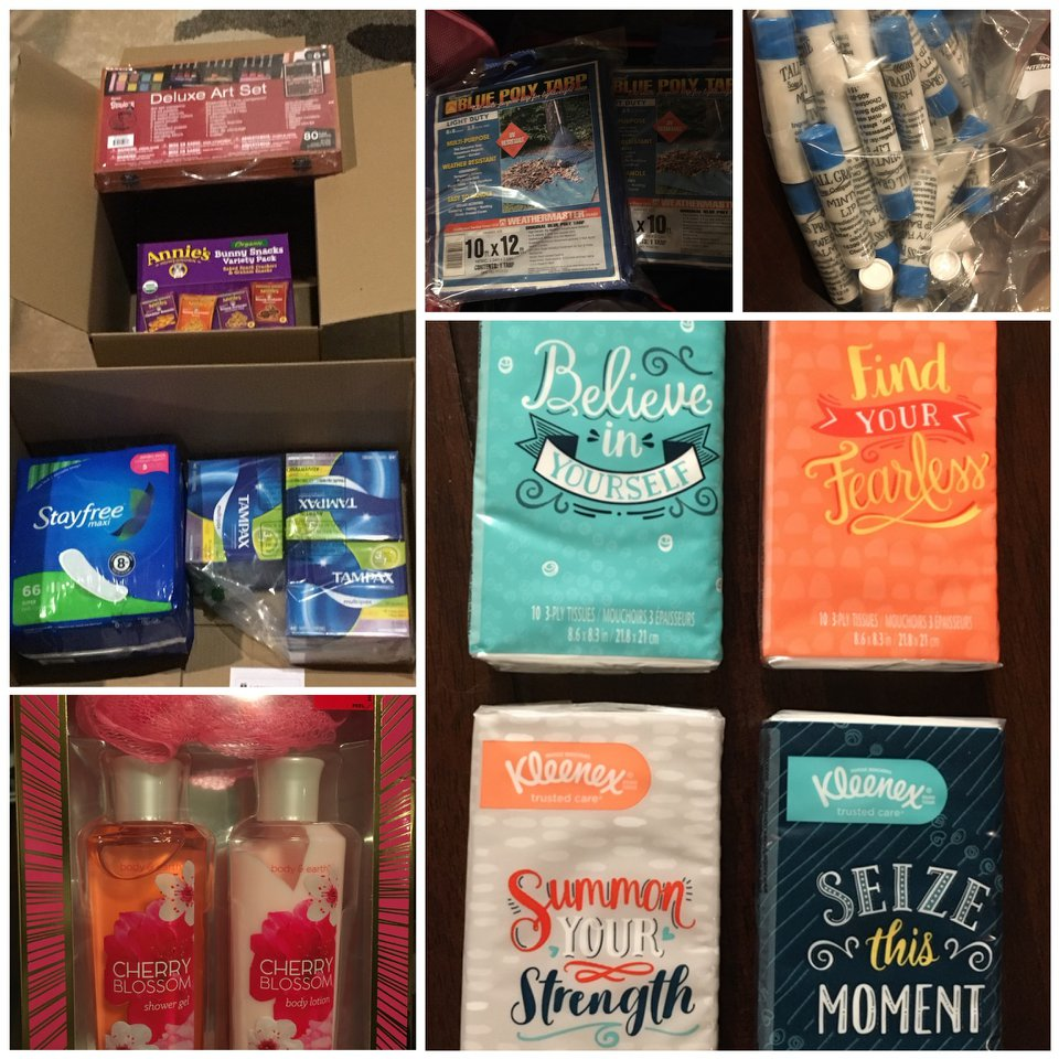 So many people made these care packages possible. We hope even the Kleenex offers a little hope.