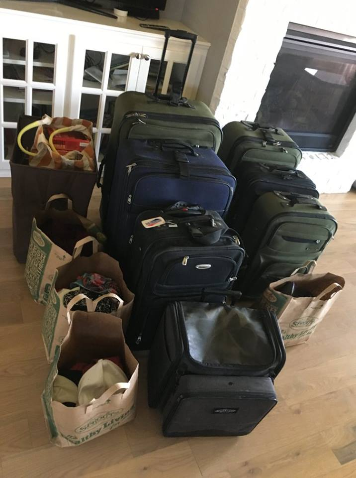 They said rolling suitcases were treasures so my sister posted a message on her neighborhood page and collected all of these!! Thank you!