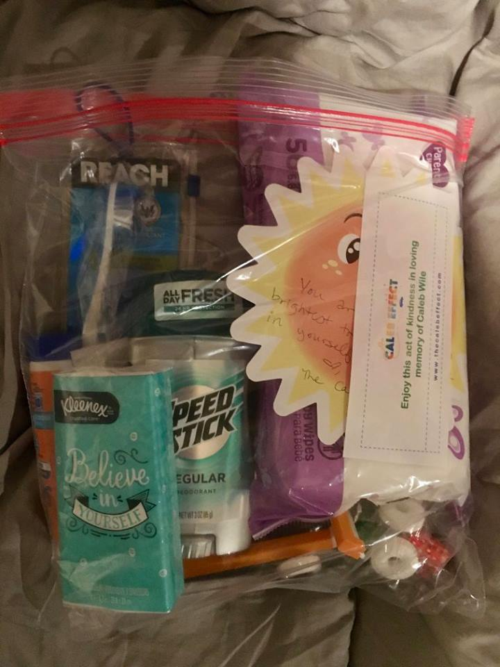 One of the men's care packages.