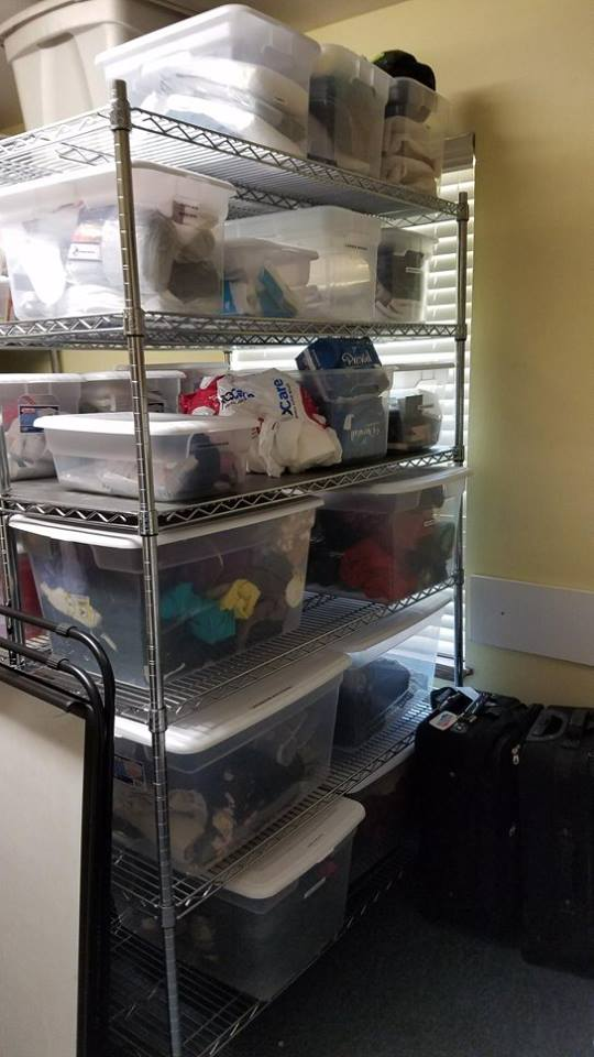Added a few more bins to the supply closet!