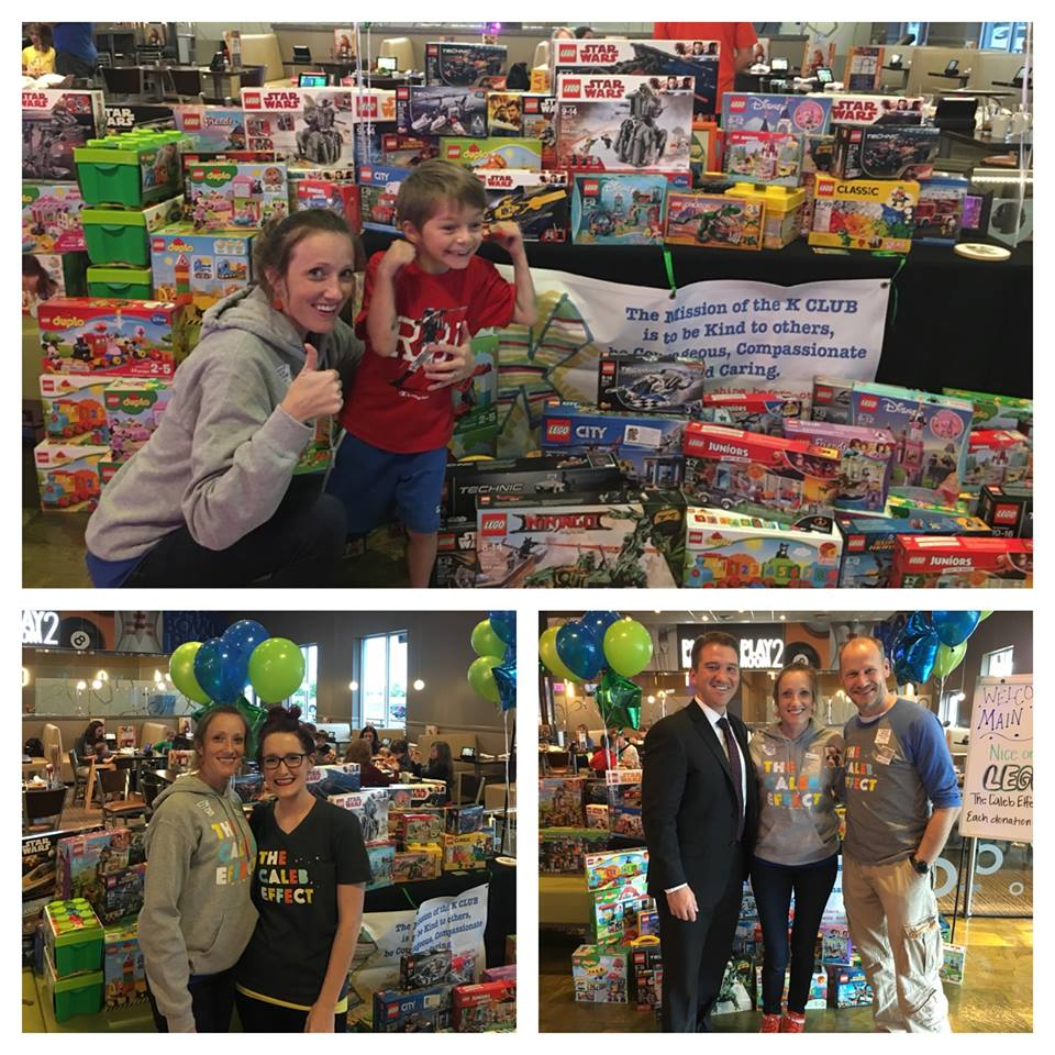 It's fun to be nice!! Look how many Legos we collected from our generous friends! — with  Tessa Mathews ,  Bernie Lindo Wile ,  Erica DeGiusti Bollinger ,  Gretchen Sass ,  Courtney Flinton  and  Adam Wile  at  Main Event .