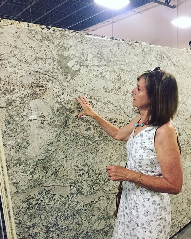 Looking at granite samples today for a listing in Arlington #arlingtonrealtor #arlingtonvarealestate #arlingtonva #granitecountertops #kitchenremodel #kitcheninspo