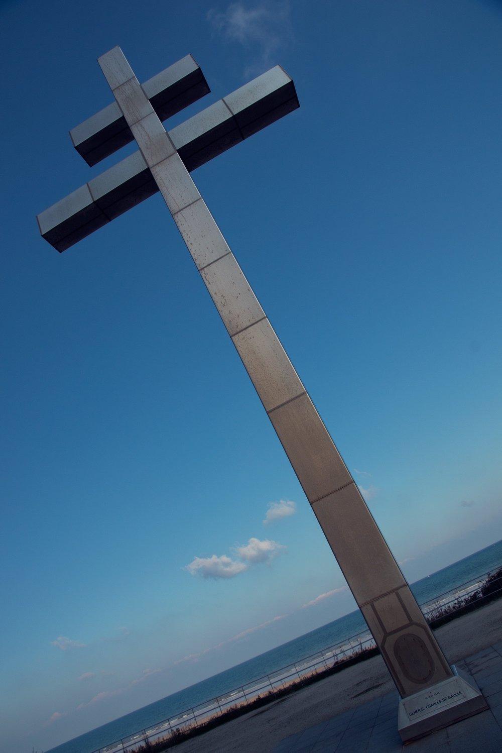 Croix de Lorraine, Courseulles-sur-Mer, France.