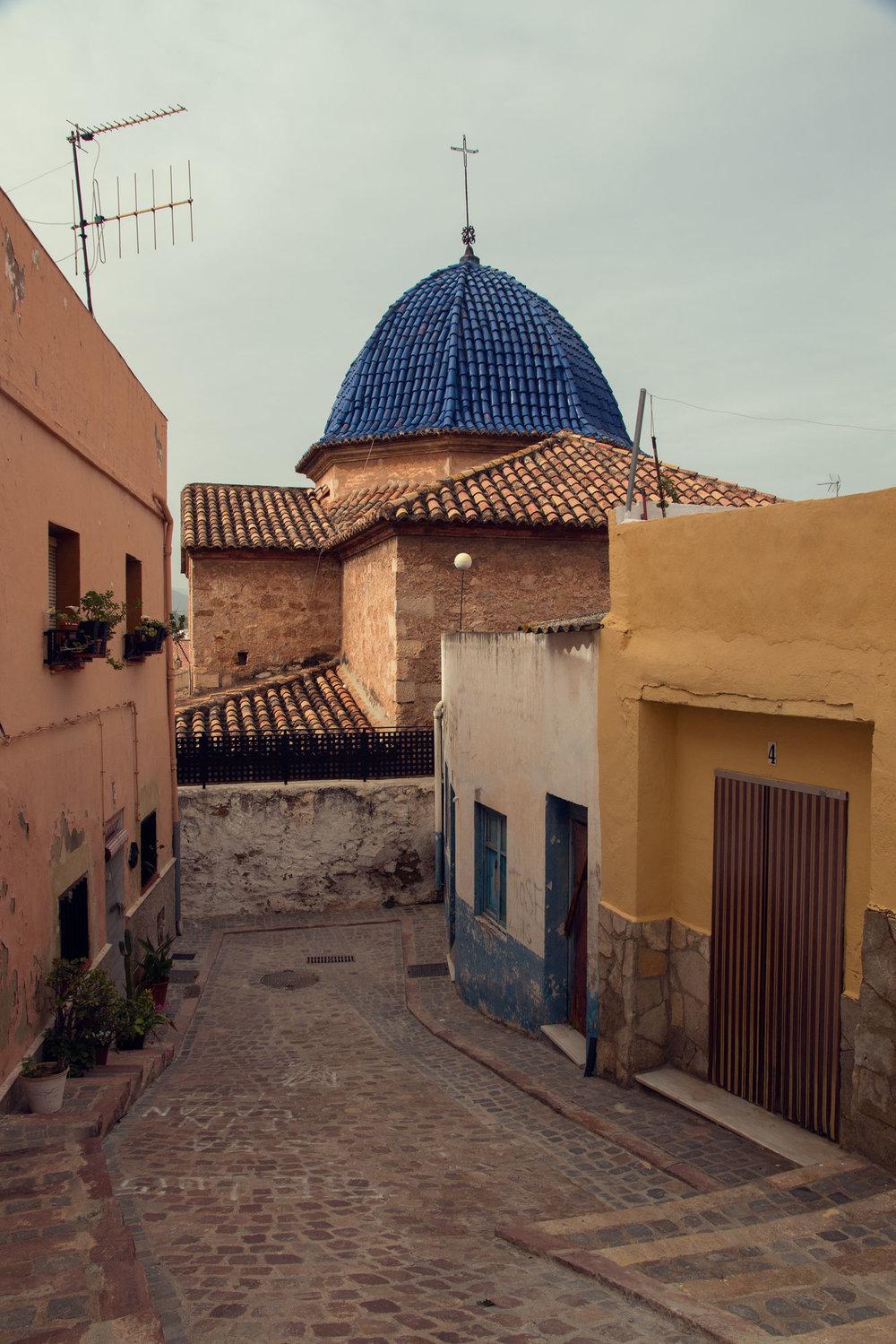 The streets of Sagunt, Spain.