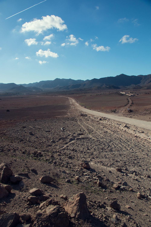 The road to Playa de Los Genoveses.