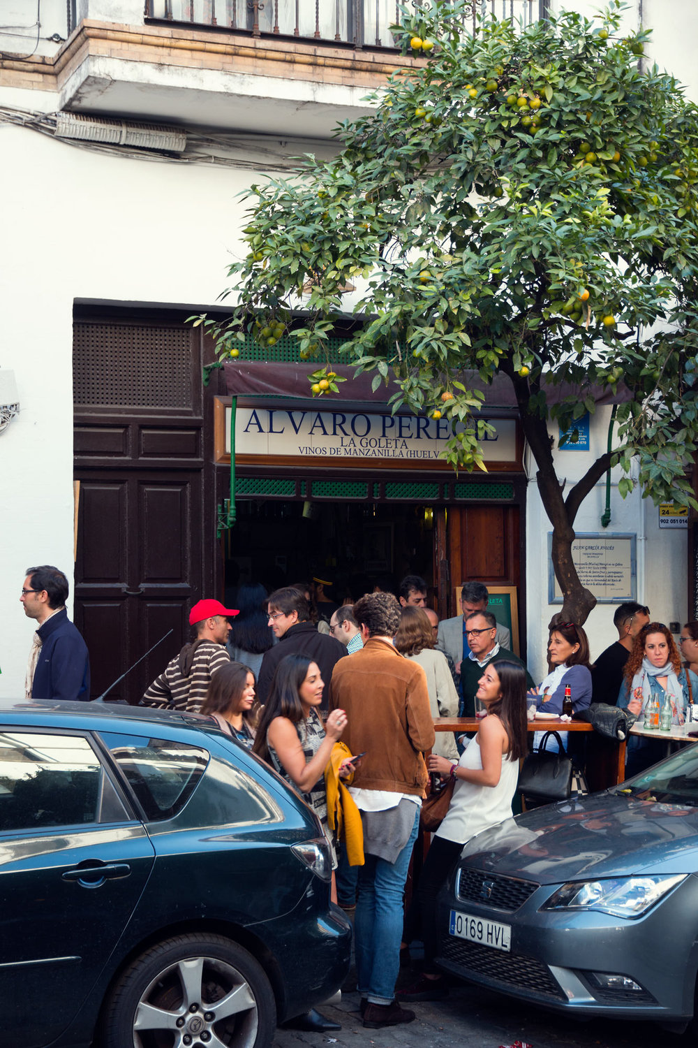 One of the smallest and oldest bars in Seville.