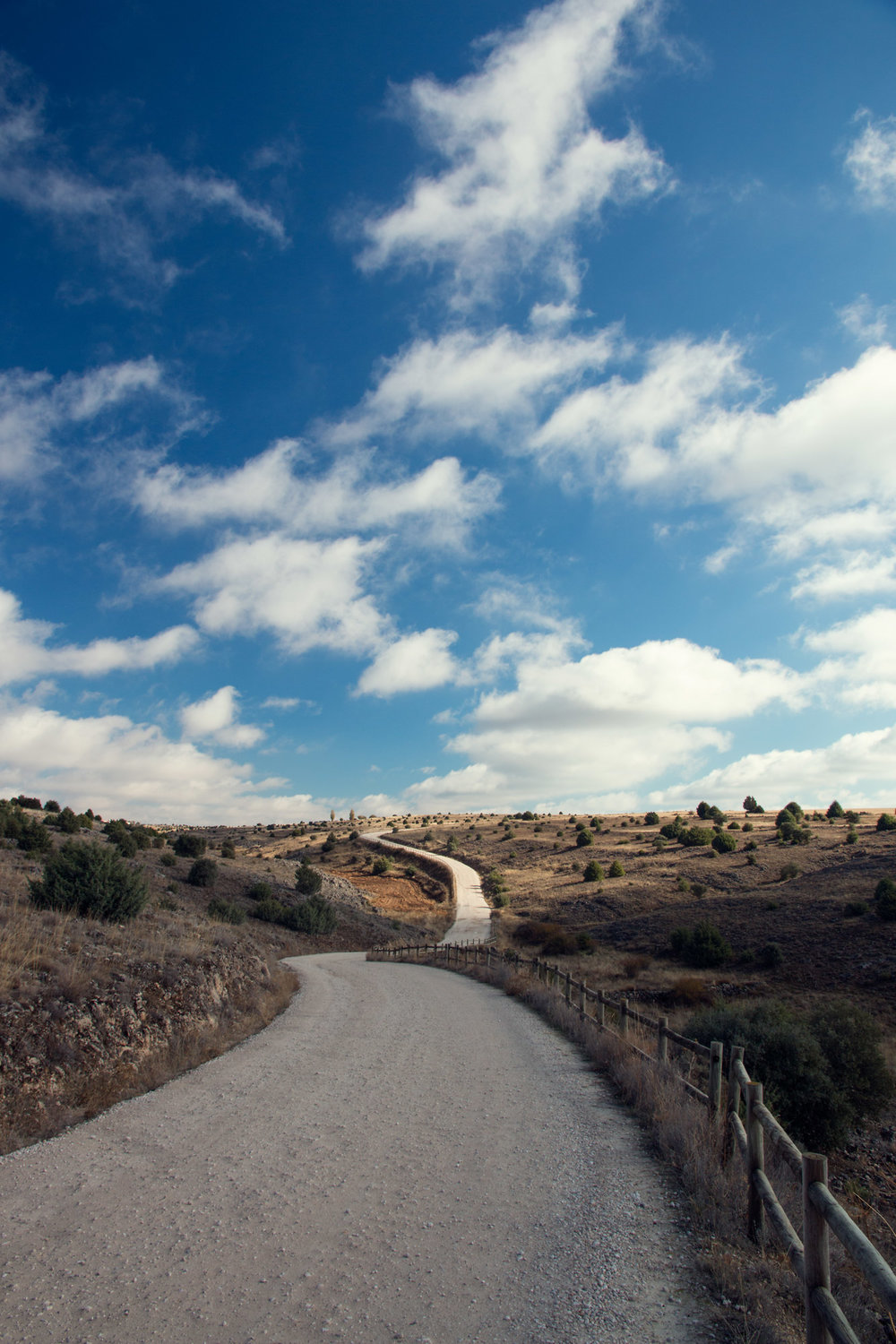 The track to the San Frutos Hermitage, Spain.