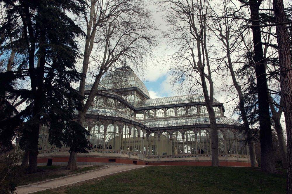 Palacio de Cristal -Madrid's Crystal Palace in Buen Retiro Park.