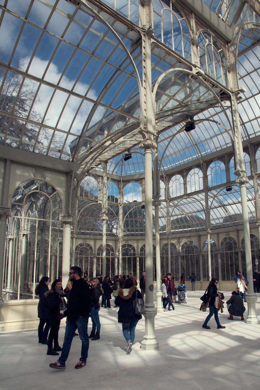 Palacio de Cristal - Inside Madrid's Crystal Palace in Buen Retiro Park.