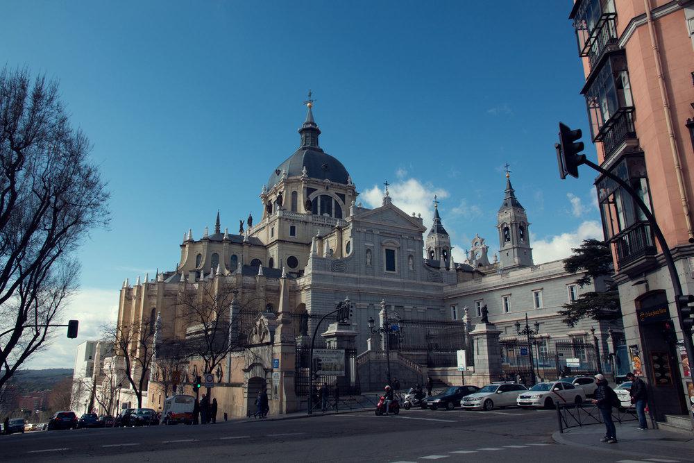 Madrid's Catedral de la Almudena, opposite the Royal Palace.