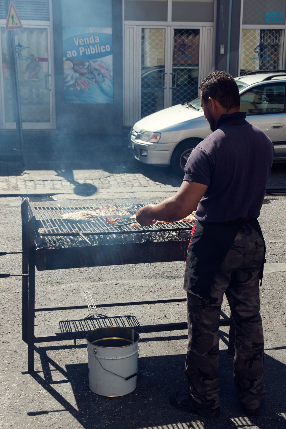 Freshly caught and grilled seafood at Tito II restaurant in Matosinhos. So tasty!