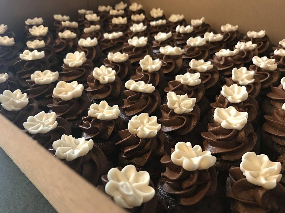Chocolate Espresso Mini Cupcakes