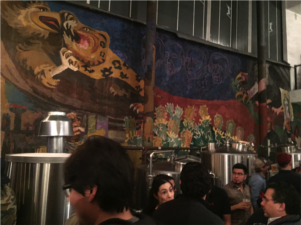 While the brewhouse is a beauty in and of itself, most of the art on the walls at Casa Cerveza Cru Cru dates back to pre-hispanic times (15th century).