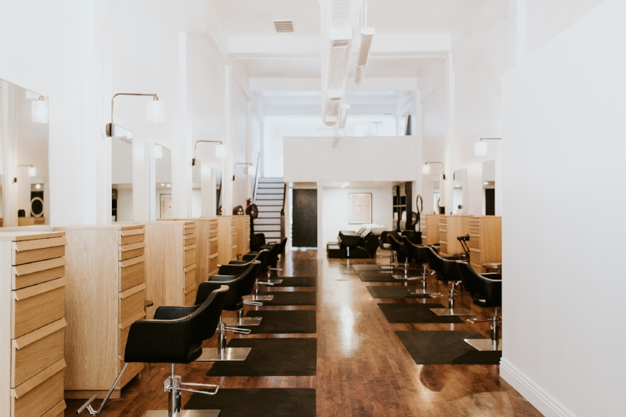 Interior of Collective Hair Salon