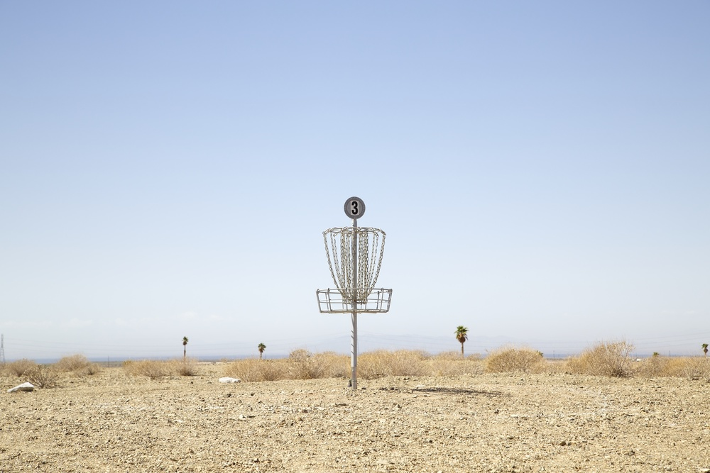 Disc Golf, Salton Sea, California,  2014