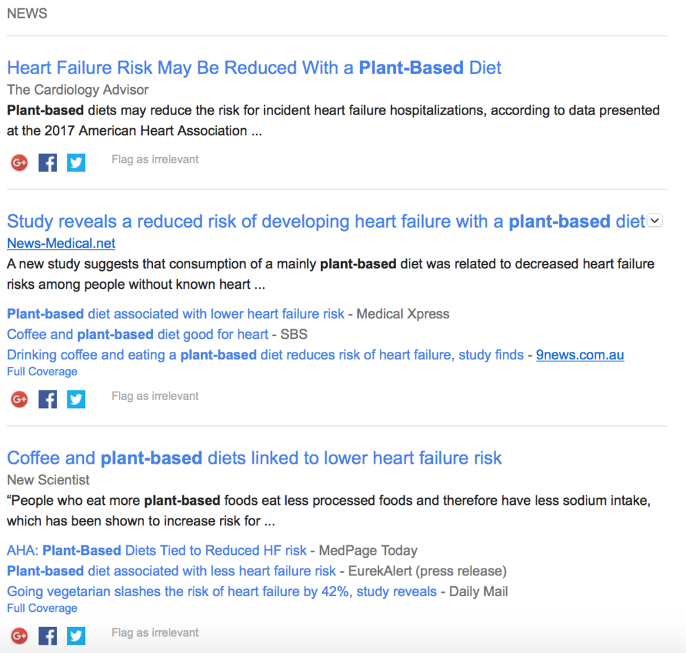 Headlines today exclaiming a plant-based diet reduces risk of heart failure!