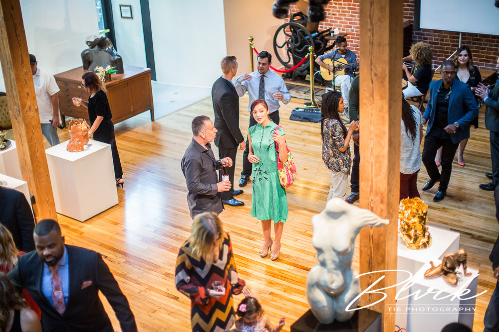 The art of Sparks Gallery flowed with the conversation.