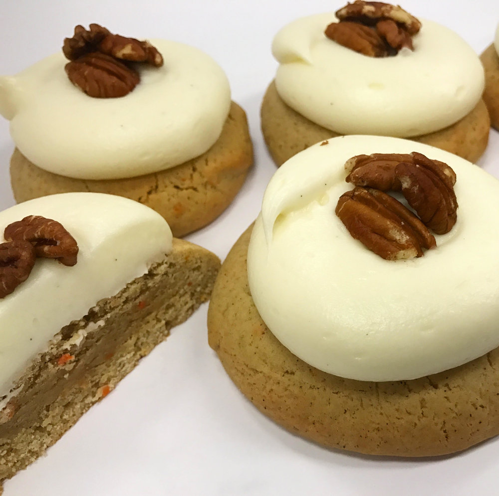 The Carrot Cake Cookie made with Imperfect carrots!